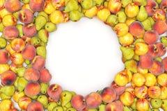 Fruits de vue isolted sur le fond noir rendu 3d Photos stock
