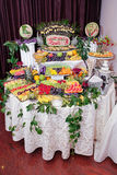 Fruits decoration Royalty Free Stock Photos