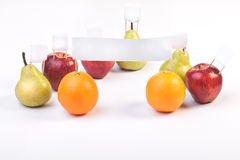 Fruits demonstrate and protest Royalty Free Stock Images