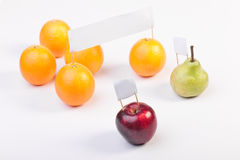 Fruits demonstrate and protest Stock Photos