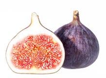 Fruits des figues fraîches d'isolement sur le fond blanc Photo stock