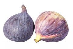 Fruits des figues fraîches d'isolement sur le fond blanc Images libres de droits