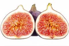 Fruits des figues fraîches d'isolement sur le fond blanc Photo libre de droits