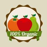 Fruits design. Over beige background vector illustration vector illustration