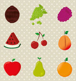 Fruits design Stock Photos