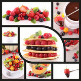 Fruits and dessert,collection Royalty Free Stock Photos