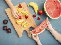 Fruits diet summer Stock Photos
