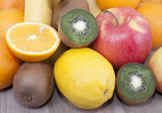 Fruits. Different fruits   on the table Royalty Free Stock Image