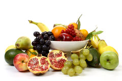 Fruits on a dish Royalty Free Stock Images