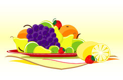 Fruits on dish Royalty Free Stock Images