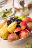 Fruits in dish Stock Image