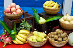 Fruits display Royalty Free Stock Photo