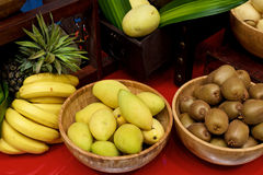 Fruits display Stock Image