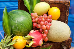 Fruits display Royalty Free Stock Photos