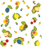 Fruits doodle hand drawn background Stock Photos