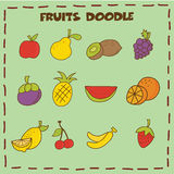 Fruits doodle icon Royalty Free Stock Photography