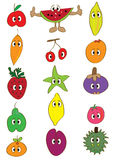 Fruits Doodle Sets Cartoon_eps Stock Image
