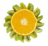 Fruits drôles d'isolement - fleur d'oranges Image libre de droits