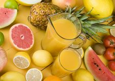 Fruits drink Royalty Free Stock Images