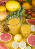 Fruits Drink Royalty Free Stock Photography