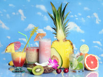 Fruits and drinks Stock Photos