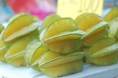 Fruits, drinks and vitamins. Starfruits sold at a market Royalty Free Stock Photo