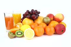 The fruits and drinks Royalty Free Stock Photo