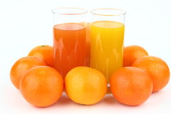 The fruits and drinks Stock Image