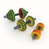 Fruits_dumbbells Imagem de Stock Royalty Free
