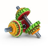 Fruits_dumbbells3 Royalty Free Stock Photo