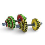 Fruits_dumbbells4 Royalty Free Stock Photo