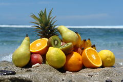 Fruits en vrac Photos stock