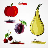 Fruits entiers illustration stock