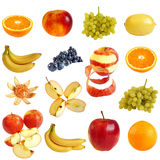 Fruits et baies d'isolement sur le fond blanc. photos stock