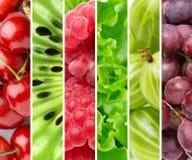 Fruits et baies de couleur Photos libres de droits
