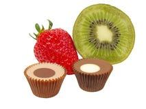 Fruits et chocolats image libre de droits