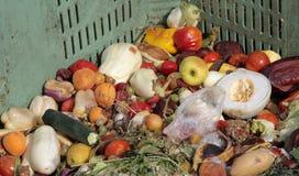 Fruits et légumes cassés à jeter utilisé comme engrais à la ferme photo libre de droits