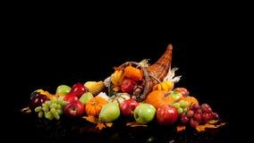 Fruits et légumes d'automne dans une corne d'abondance Images libres de droits