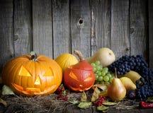 Fruits et légumes de potirons de Veille de la toussaint Photographie stock