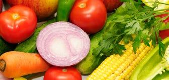 Fruits et légumes de ramassage Images libres de droits