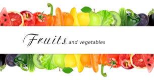 Fruits et légumes frais de couleur Image stock