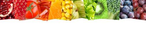 Fruits et légumes frais de couleur Images stock