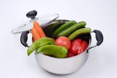 Fruits et légumes mélangés Image stock