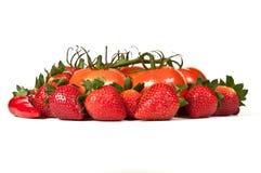 Fruits et légumes mûrs rouges Photographie stock libre de droits