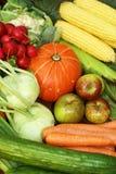 Fruits et légumes organiques photographie stock