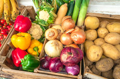 Fruits et légumes organiques Photographie stock libre de droits
