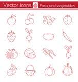 Fruits et légumes rouges Photo stock