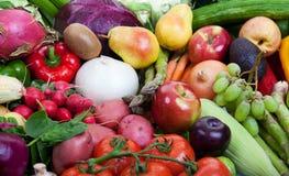Fruits et légumes sains Photo libre de droits