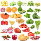 Fruits et légumes sur le fond blanc Photographie stock
