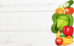 Fruits et légumes sur le Tableau Photographie stock libre de droits